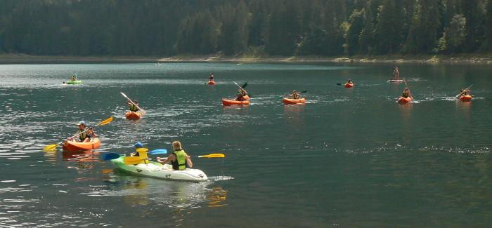 Mardi 24 juillet, kayak et feu de camp !