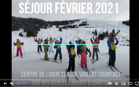 Clément, votre super directeur adjoint, vous propose sa vidéo souvenir des vacances de février 2021