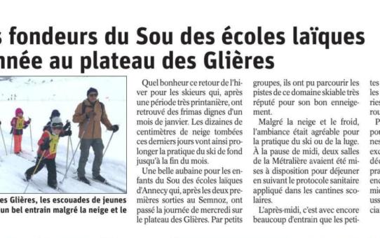 Article dans le Dauphiné !! mars 20021
