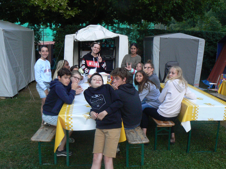 Camp de Nantua, lundi 16 juillet, arrivée sous le soleil