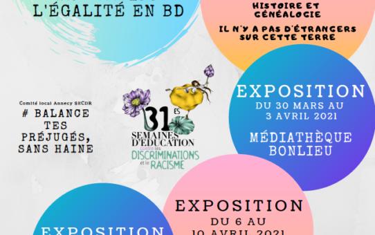 Exposition à la médiathèque de Seynod du 6 au 10 avril 2021