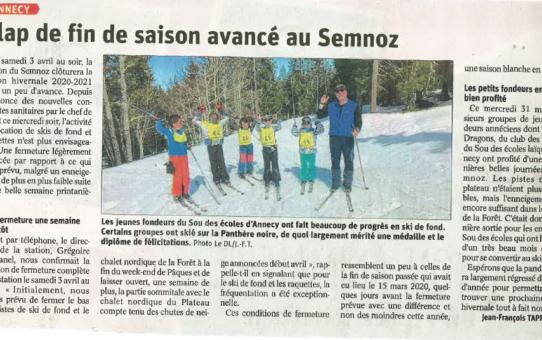 article , dernière sortie ski, mars 2021